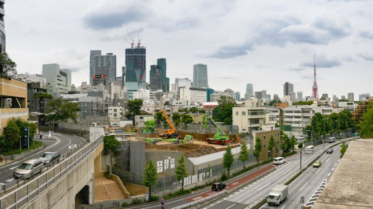Panorama von Tokio von den Roppongi Hills