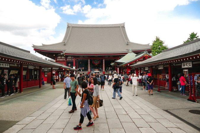 Tempel am Sensoji Tempel