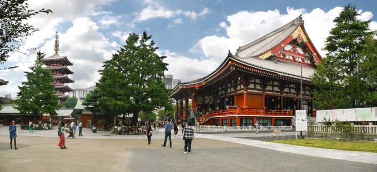 Panorama Sensoji Tempel mit Pagode