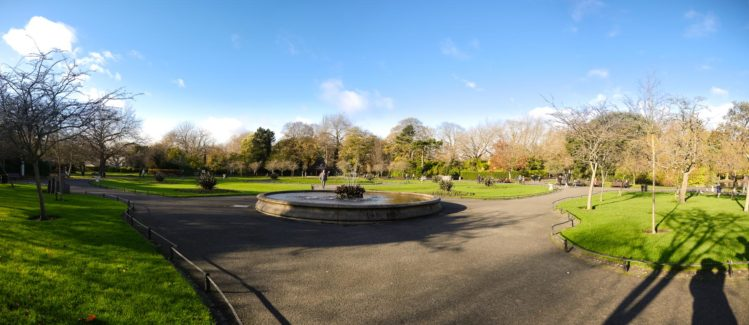 Panorama des St. Stephens Green Park