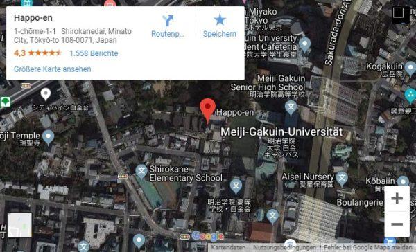Google Maps Karte von Lage Happo-en
