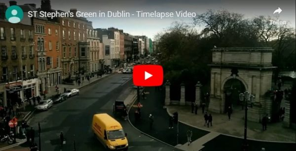 Timelapse Video von Stephens Green in Dublin