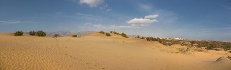Die Dünen von Maspalomas als Panorama