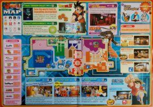 Lageplan der Attraktionen in J-World Tokyo