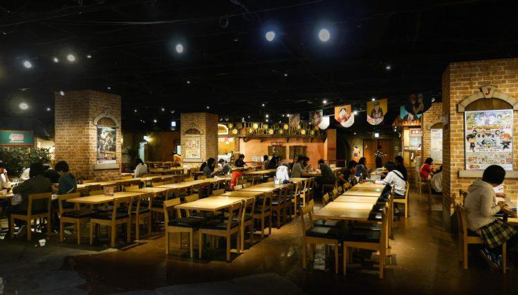 Essensbreich im Indoorfreizeipark J-World Tokyo