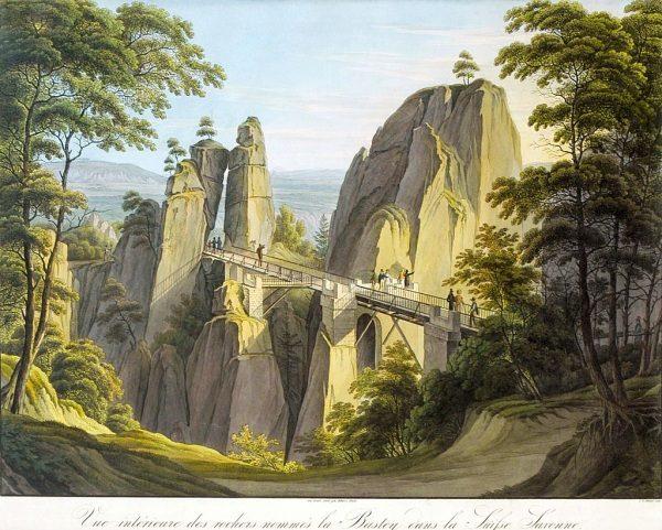 Gemälde Basteibrücke von Christian Gottlieb Hammer