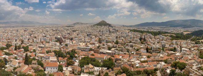 Bild: Blick auf Athen von der Akropolis