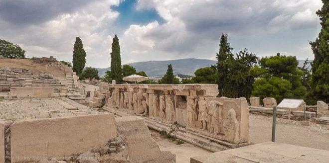 Foto: Dionysostheater bei der Akropolis in Athen