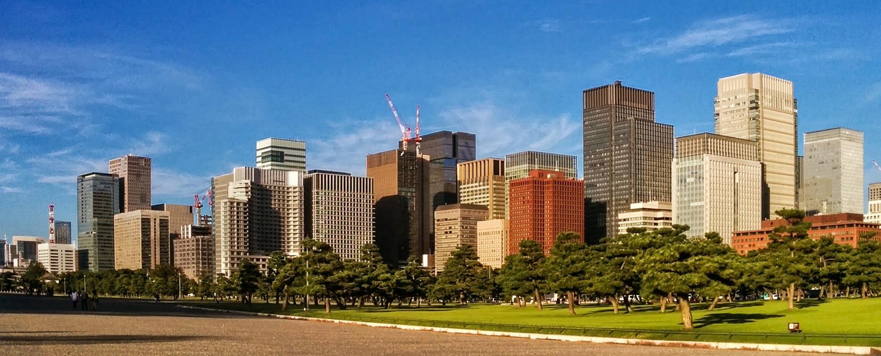 Skyline von Tokio in Marunouchi