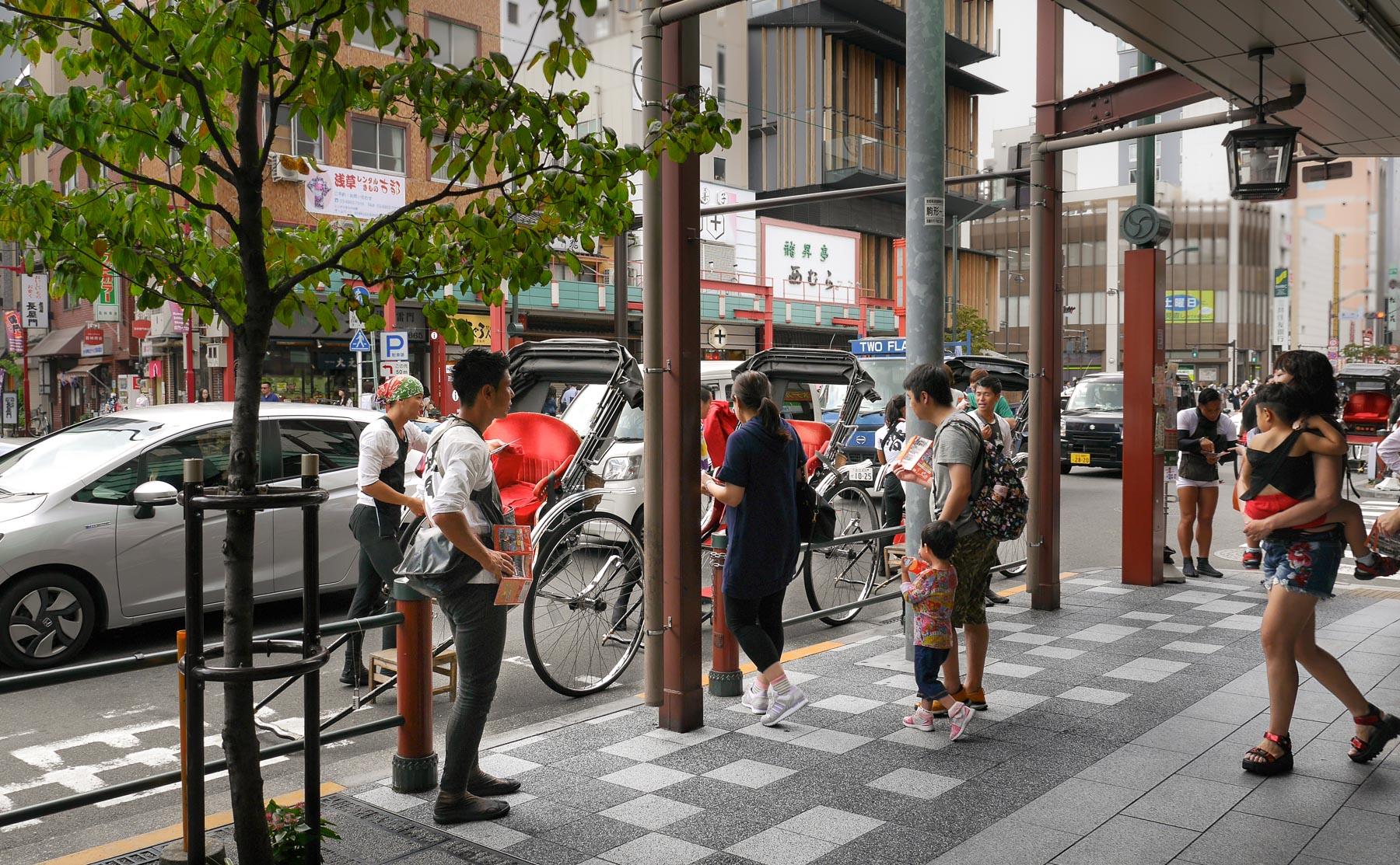 Rikschasammelplatz in Asakusa
