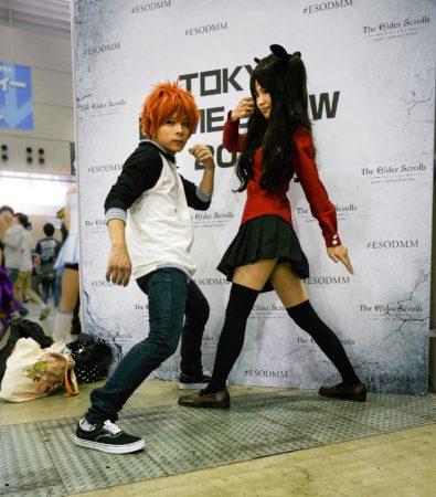 Cosplayer auf der Tokyo Game Show
