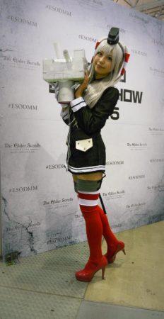 Cosplayerin auf der Tokyo Game Show
