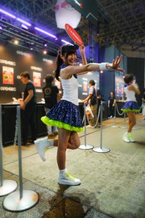 Promotengirl auf der Tokyo Game Show