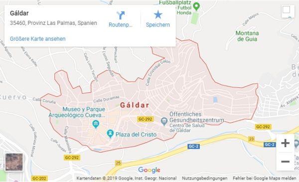 Google Maps Karte Gáldar