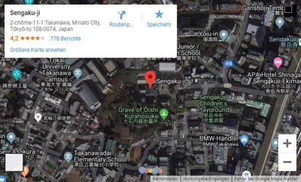 Google Maps Karte Sengaku-ji