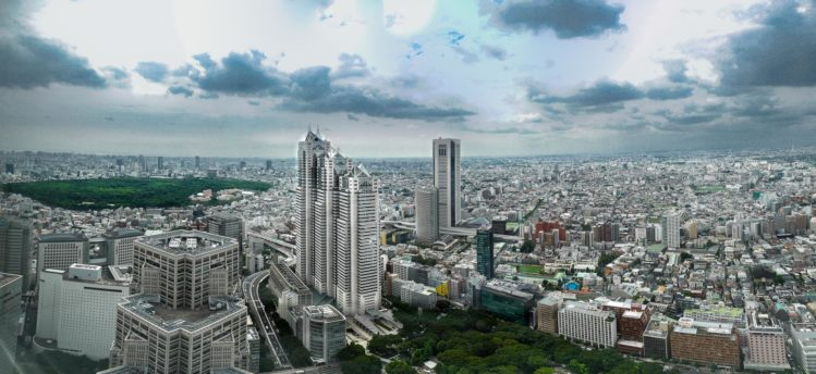 Aussicht vom Südtower im Rathaus in Shinjuku