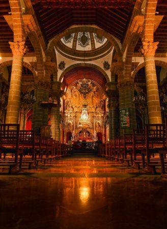 Inneres der Basilika von Teror