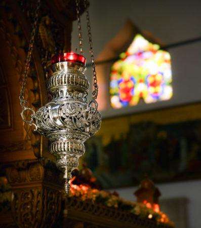 Weihrauchlampe in der Agios Titos Kirche in Heraklion