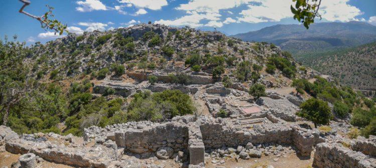 Panorama von dorischer Siedlung bei Lato auf Kreta