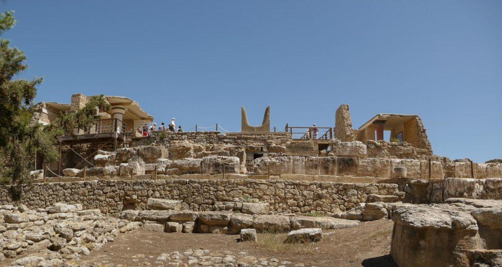 Symbolische Hörner eines Stieres aus Stein beim Palast von Knossos