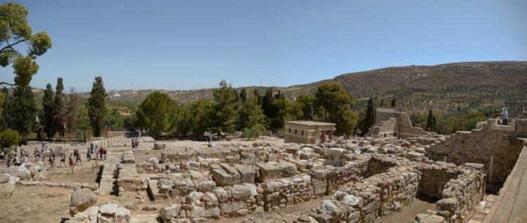 Blick auf die Überreste von Knossos