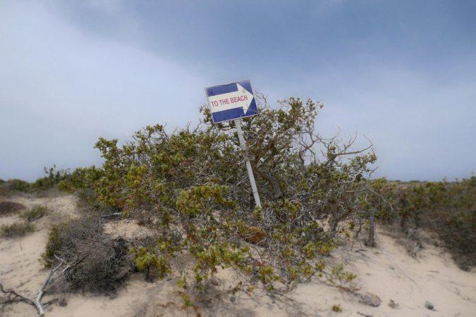 To the Beach Schild mit Pfeil