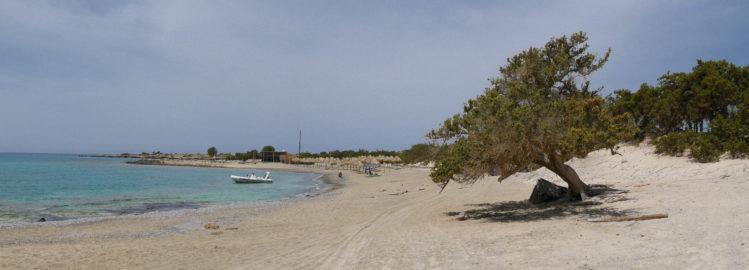 Panorama vom Strand von Chrissi Island