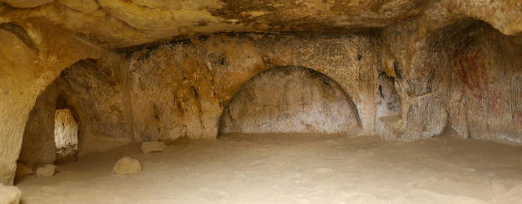 Versandete römische Grabkammer