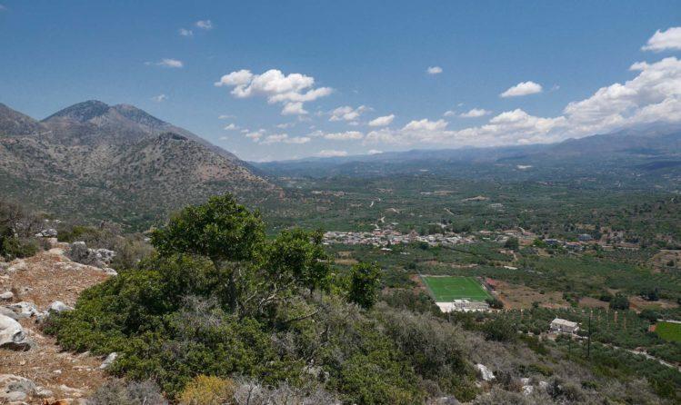 Panorama Landschaft von Kreta