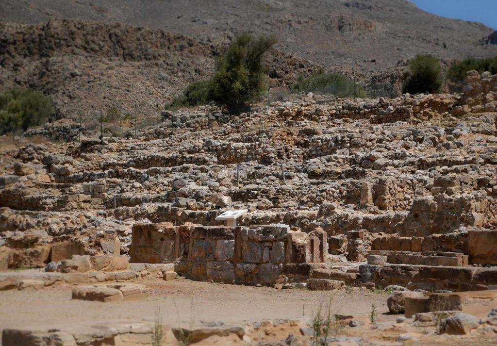 Infotafel an der Ausgrabungsstätte in Kato Zakros