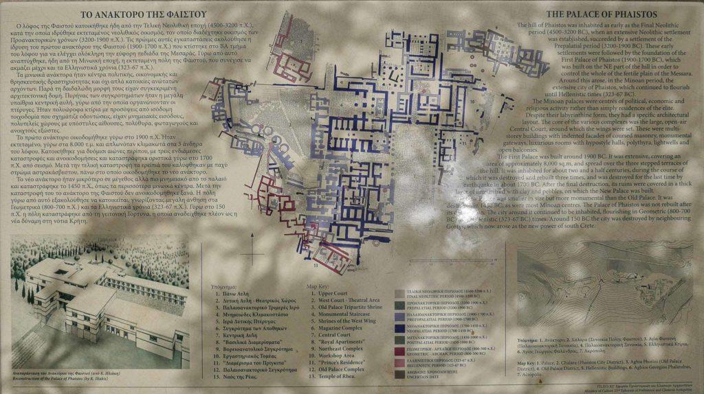 Plan vom Palast von Phaistos