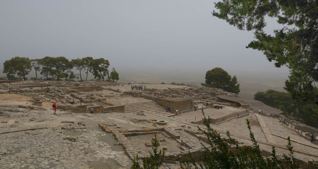 Panorama der Ausgrabungsstätte vom Palast von Festos