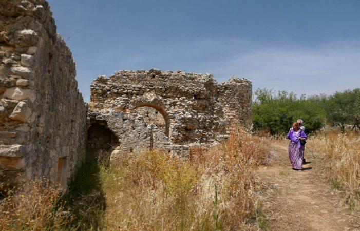 Außenmauern eines römischen Bades