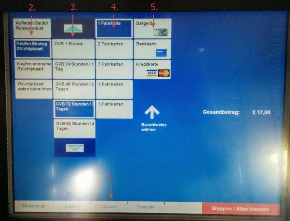 Fahrkartenautomat in Amsterdam