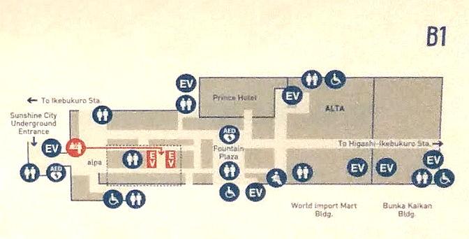 Lageplan von Kassenbereich des Sky Circus