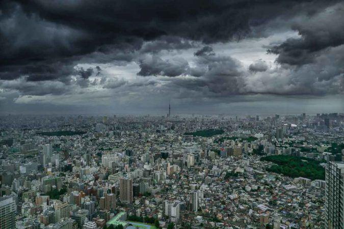 Panorama von Tokio mit Skytree