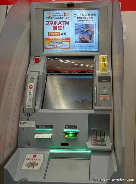Geldautomat in Tokio in Japan
