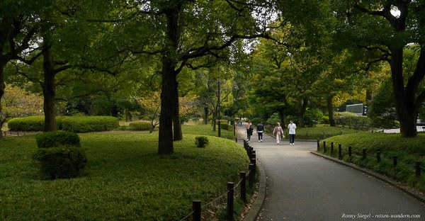 Foto: Gehwege im Kitanomaru Park