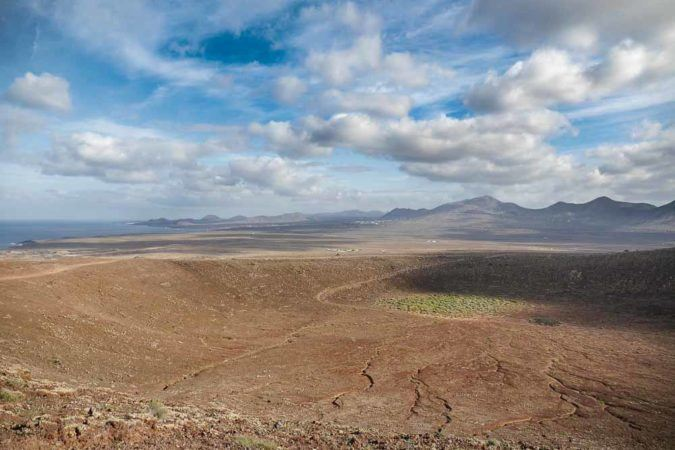 Blick vom Vulkanberg Montana Roja auf Rubikon Ebene