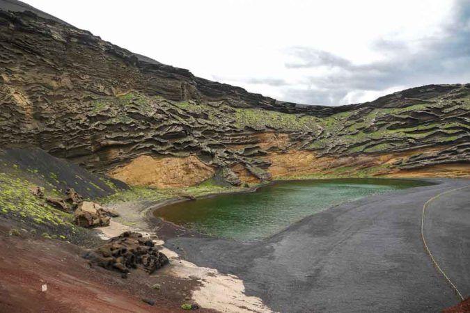 Grüne Lagune in El Golfo auf Lanzarote