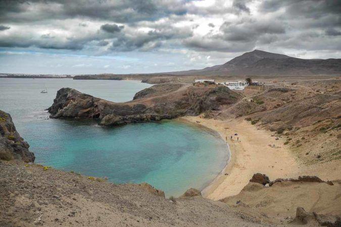 Bucht bei den Sandstränden von Playas de Papagayo