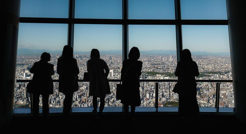 Blick vom Skytree auf Tokio