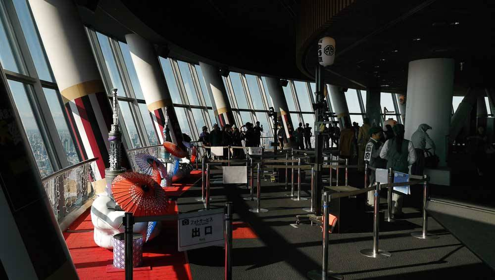 Fotocounter im Skytree