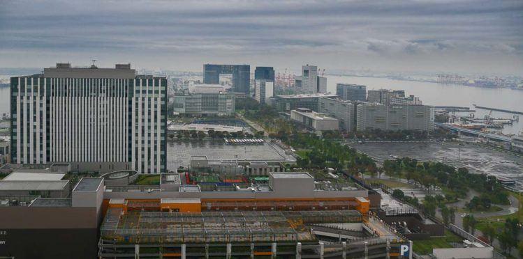 Blick auf Odaiba mit Diver City