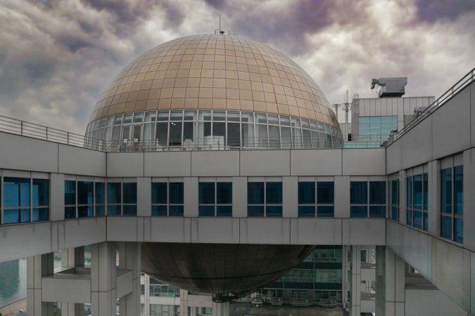Die Kugel des Fuji Observatorium