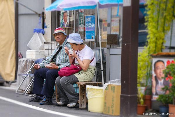 2 alte Japaner in Tokio