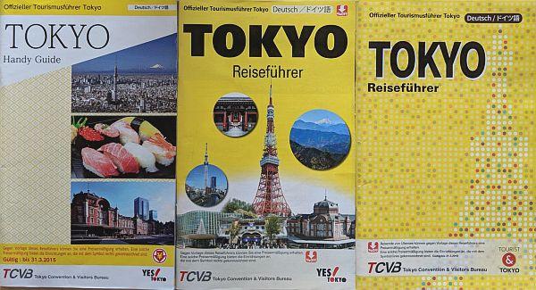 Übersicht der kostenlosen Reiseführer von Tokio