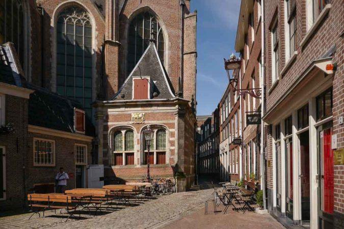 Bordelle an der De Oude Kerk Kirche in Amsterdam