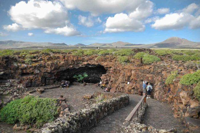 Zugang zum Cueva de los Verdes