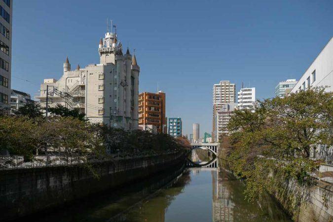 Meguro River in Tokio